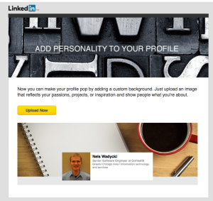 LinkedIn Custom Backgrounds